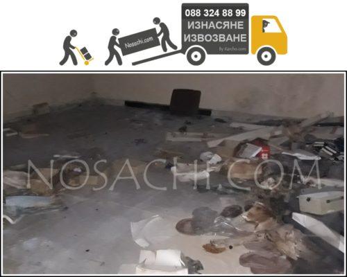 Почистване на мазета и тавани с носачи в София